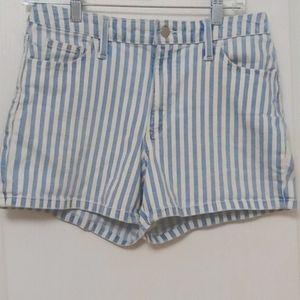 Universal Thread Denim Striped Shorts